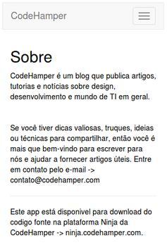 Blog CodeHamper apk screenshot