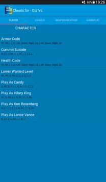 Cheats for Gta Vice City Plus screenshot 12