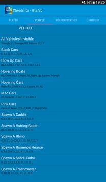 Cheats for Gta Vice City Plus apk screenshot