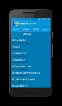 Cheats for Gta Vice City Plus screenshot 3