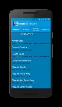 Cheats for Gta Vice City Plus स्क्रीनशॉट 5