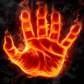 Hand of Fire Live Wallpaper icon