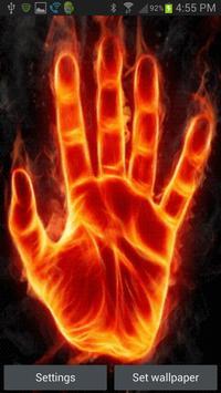 Hand of Fire Live Wallpaper screenshot 1
