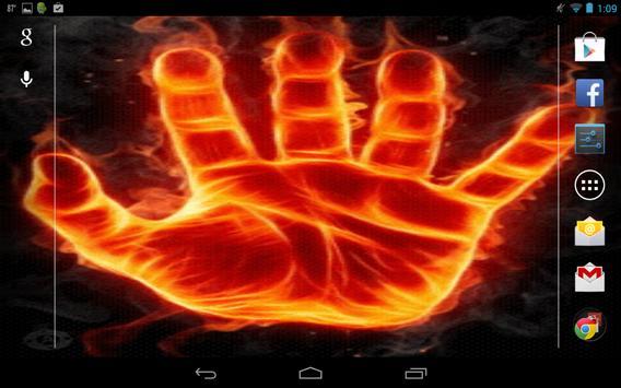 Hand of Fire Live Wallpaper screenshot 3