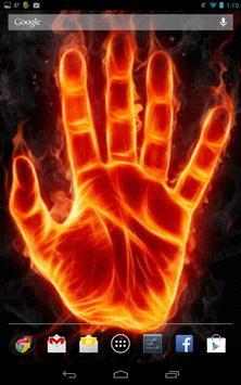 Hand of Fire Live Wallpaper screenshot 4
