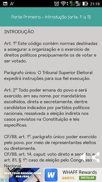 Código Eleitoral screenshot 3