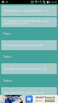 Código Eleitoral screenshot 1