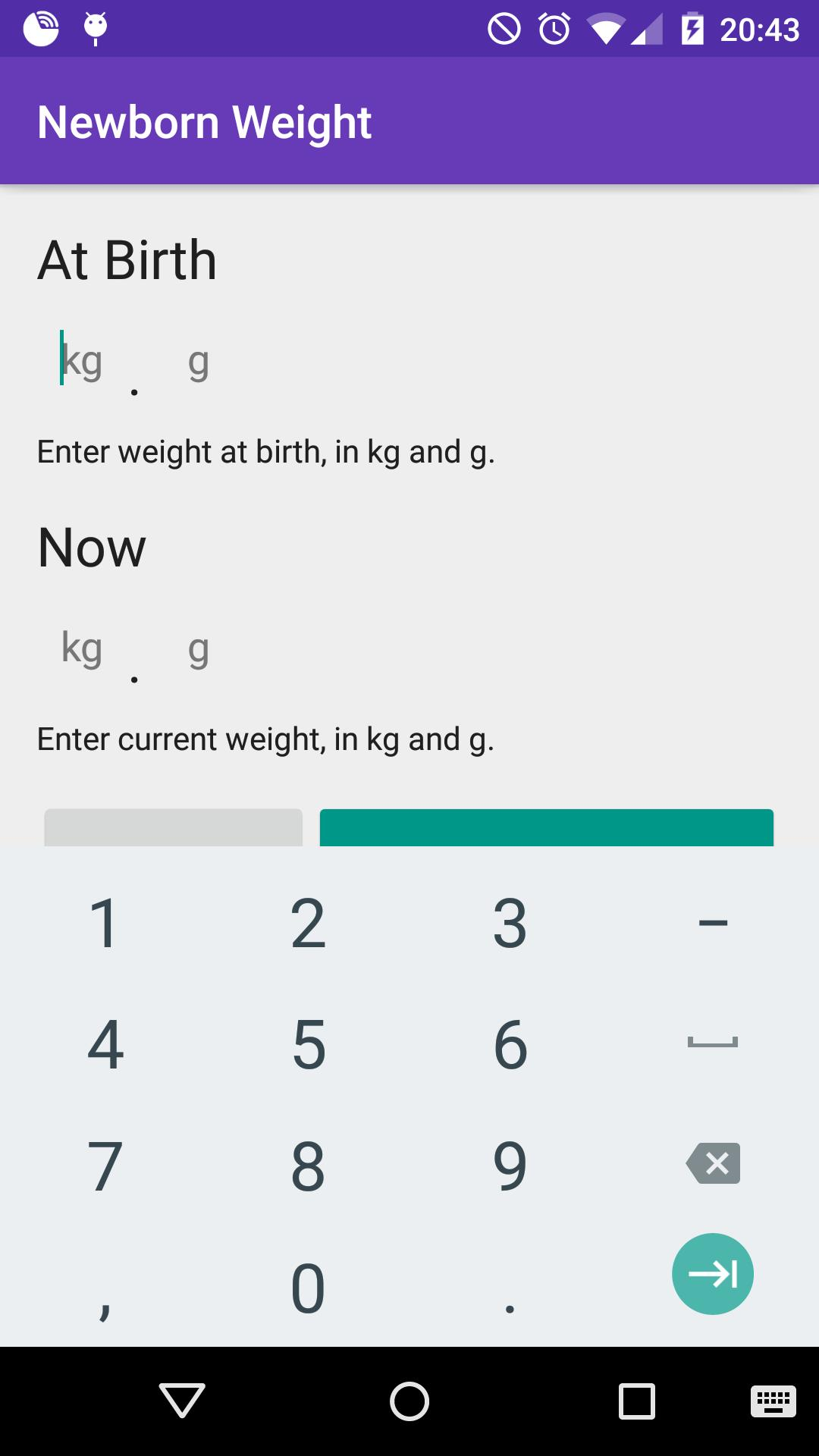 Newborn Baby Weight Loss / Weight Gain Calculator for