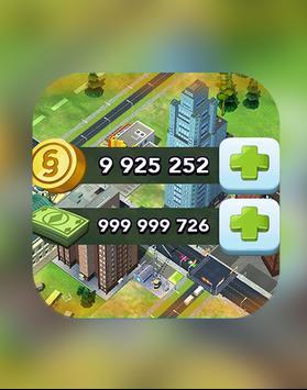 Simoleons and Simcash for SimCity BuildIt prank screenshot 1