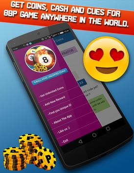 8Ball Pool free coins & cash rewards poster