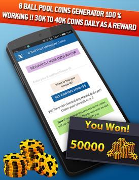 8Ball Pool free coins & cash rewards screenshot 1
