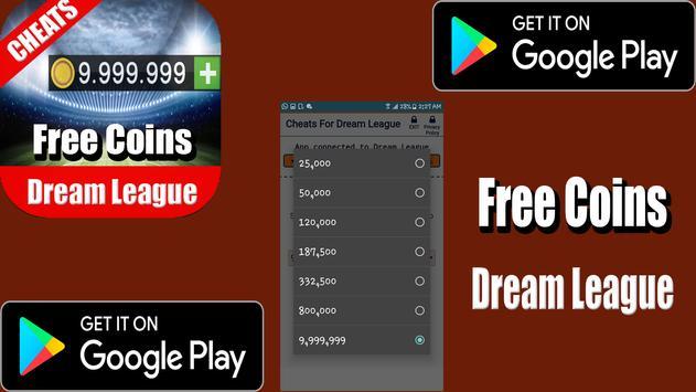 Coins For Dream League Prank apk screenshot
