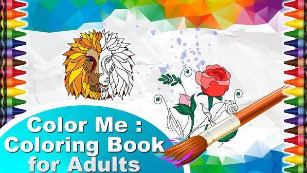 Color Me Book For Adults Poster