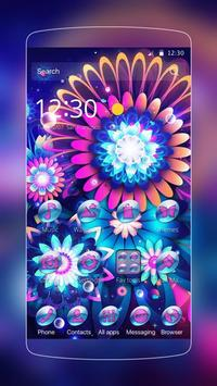 color flower neon poster