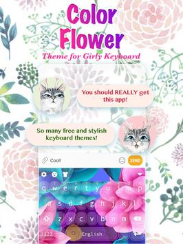 Color Flower Keyboard Theme for Girls poster