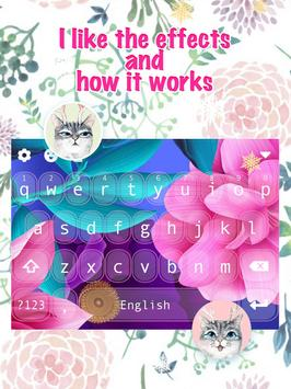 Color Flower Keyboard Theme for Girls apk screenshot
