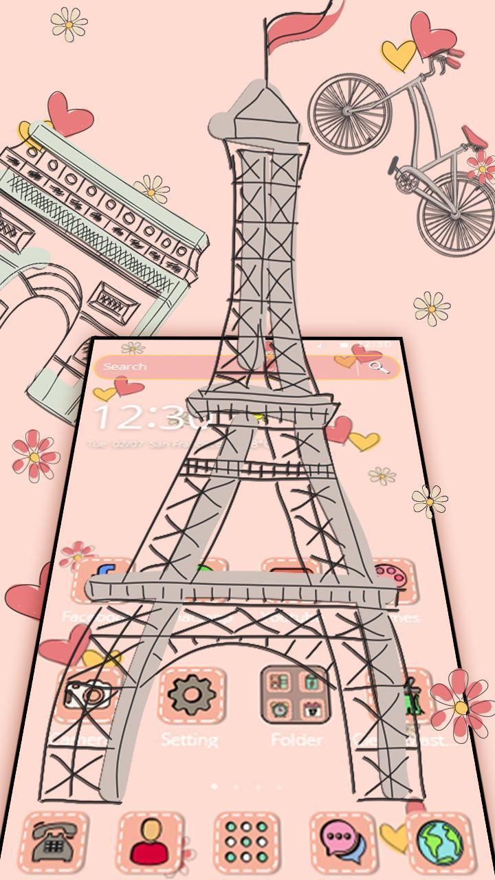 Sketsa Colorful Paris For Android APK Download