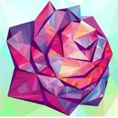 Adult Flower Poly Art Color by Number Sandbox Page icon