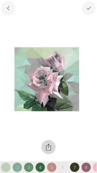 Adult Flower Poly Art Color by Number Sandbox Page screenshot 4
