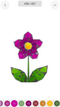 Adult Flower Poly Art Color by Number Sandbox Page screenshot 5