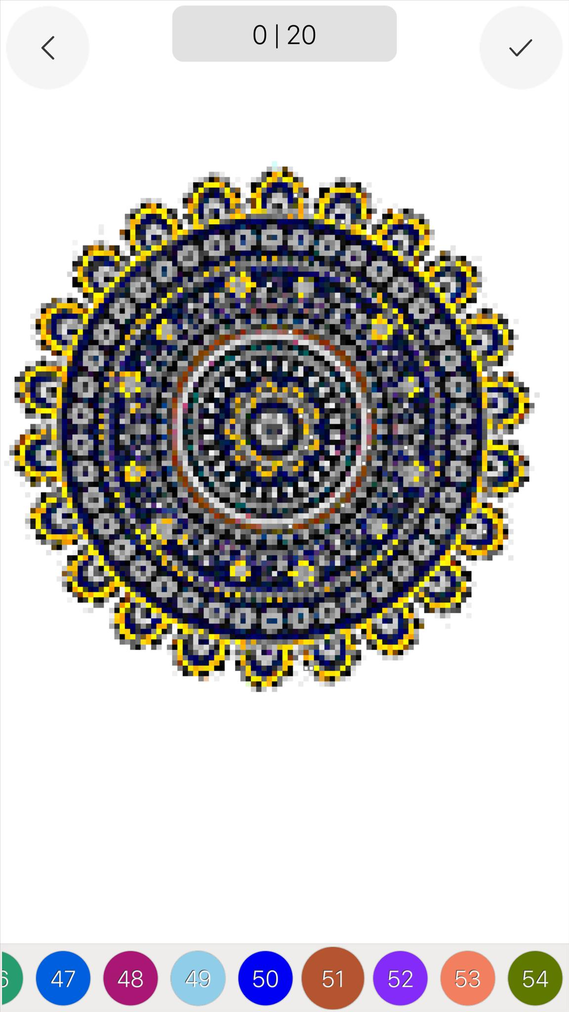 Mandala Color By Number Draw Book Page Pixel Art Für Android