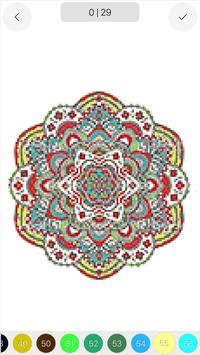 Mandala Color by Number Draw Book Page Pixel Art screenshot 3