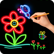 How to Glow Draw&Coloring Book