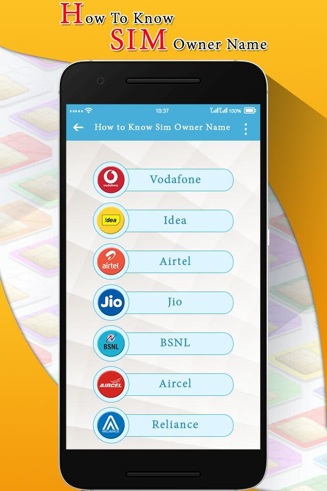 How to Know SIM Card Owner Name for Android - APK Download