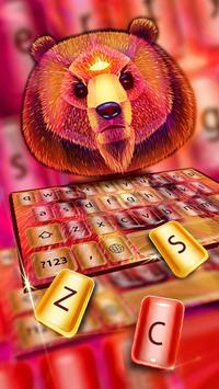 Colorful Bear Keyboard Theme poster