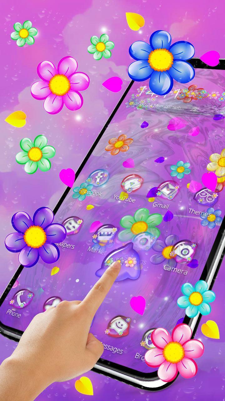 Tema Bunga Berwarna Warni 3d For Android Apk Download