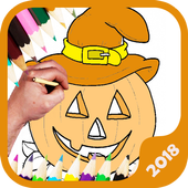 Sweet Halloween Coloring 2018 icon