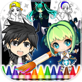 Coloring Book Anime & Manga icon