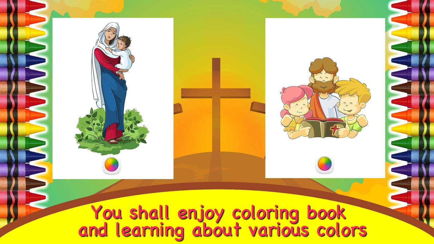 Coloring Book Bible For Kids Apk Screenshot