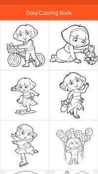Dora Coloring Book Game For Kids Apk Screenshot