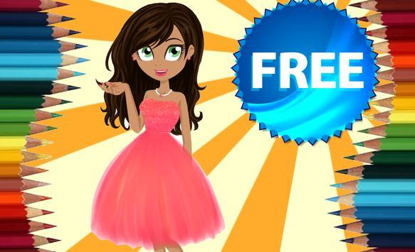Coloring Book Fashion Dolls apk screenshot