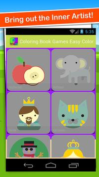 Coloring Book Games Easy Color poster