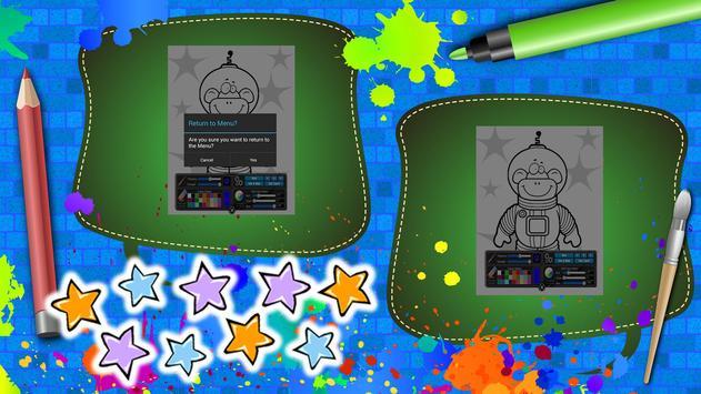 Coloring Book Space apk screenshot