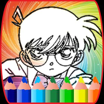 coloring book for conan detective  :coloring page screenshot 4
