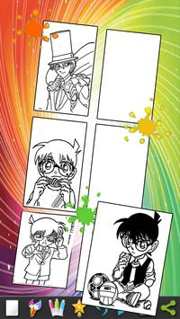 coloring book for conan detective  :coloring page screenshot 1