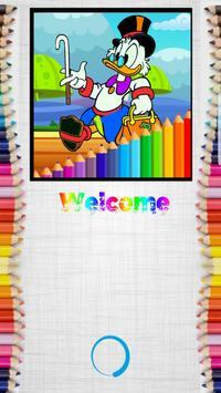 Coloring Duck-Tales Cartoon screenshot 1