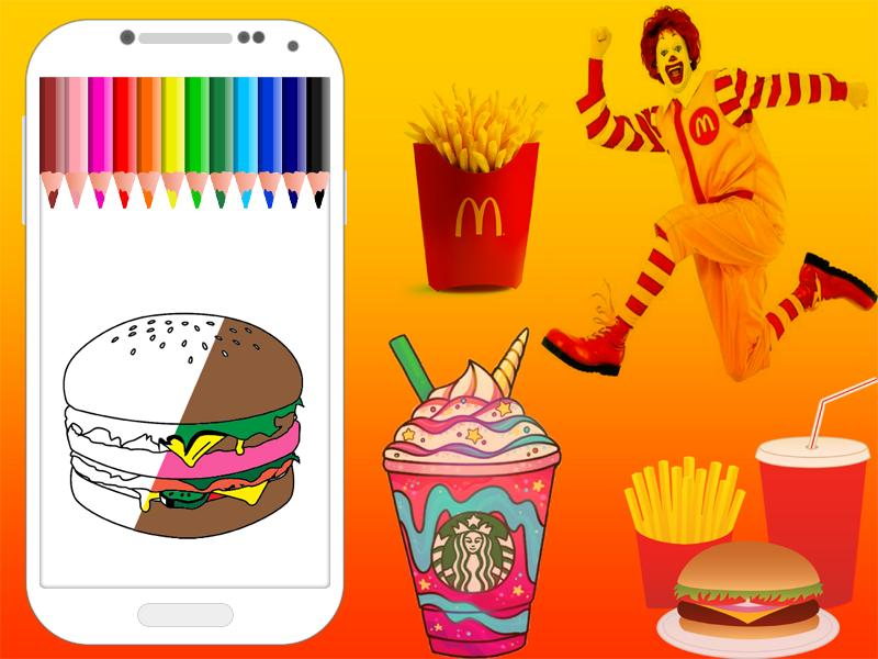 Coloring Food Pages Mcdonalds For Android Apk Download