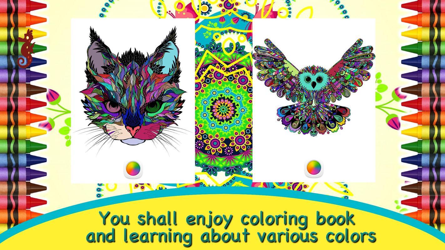 4 Mandalas De Animales Para Colorear: Colorear Mandalas De Animales For Android
