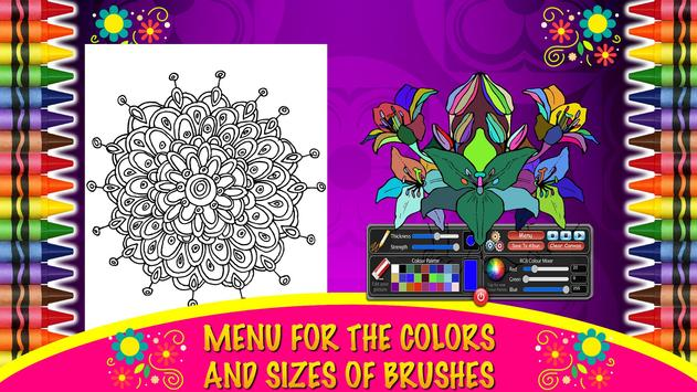 Coloring Mandalas of Flowers screenshot 6