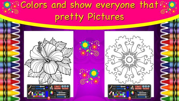 Coloring Mandalas of Flowers screenshot 7