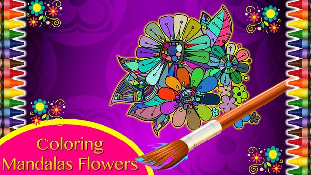 Coloring Mandalas of Flowers poster