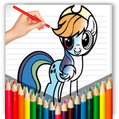 pony coloring pages - MLP icon