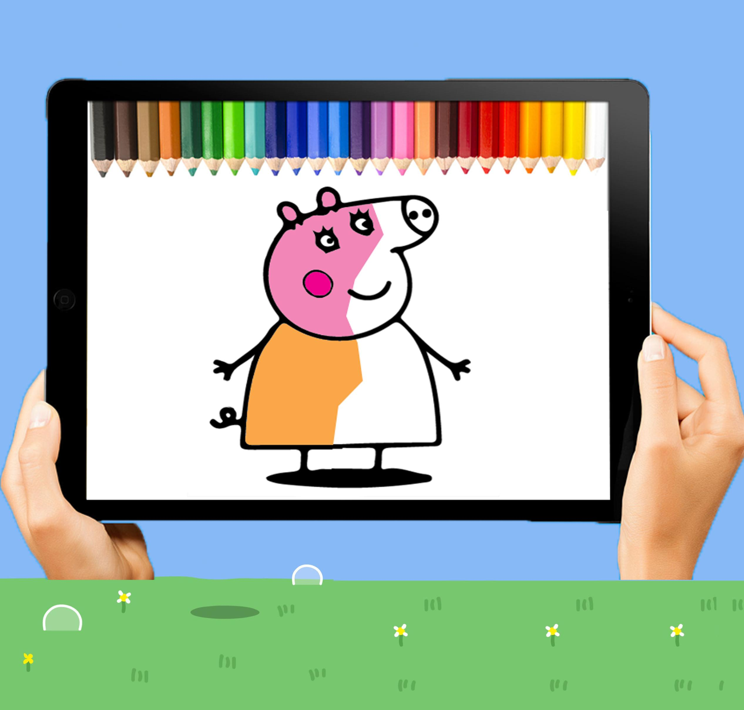 coloring peppa pig game for Android - APK Download