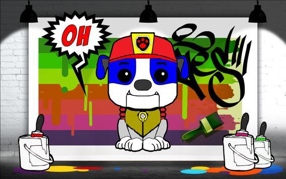 Coloring Book Paw Puppy Patrol screenshot 4