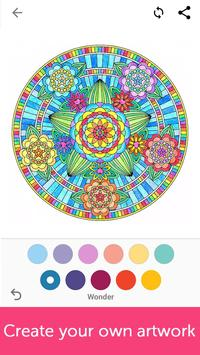 Mandala ,Adults Art Therapy Coloring Pages screenshot 4