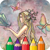 Mermaids: Coloring Book for Adults icon